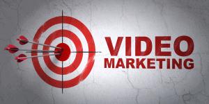 arrows hitting video marketing target