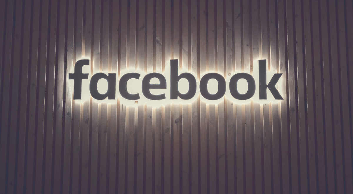 glowing facebook sign