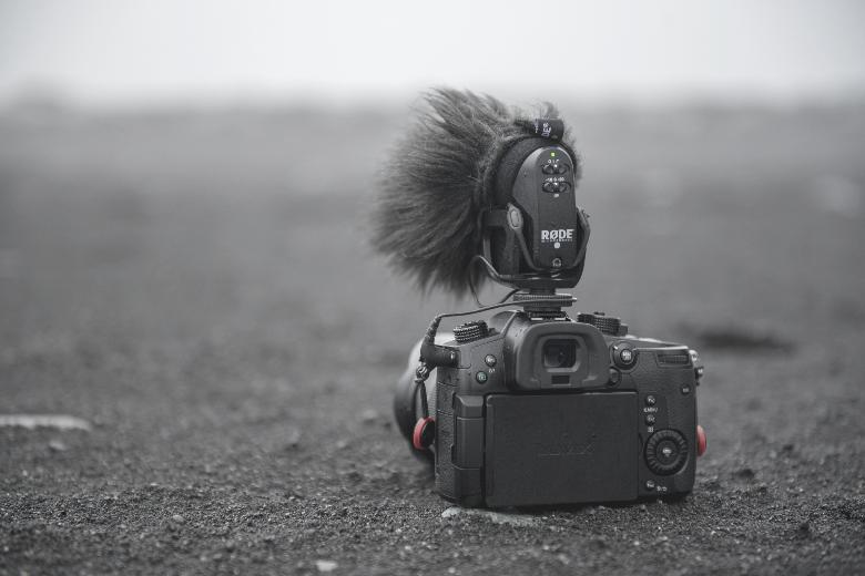 vlog camera on ground