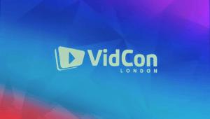 VidCon logo close up